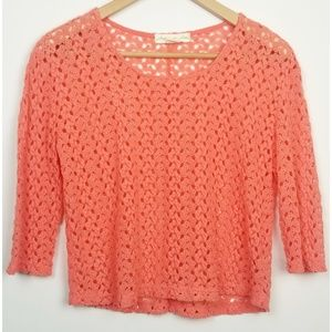 Staring at Stars UO XS coral cropped sweater